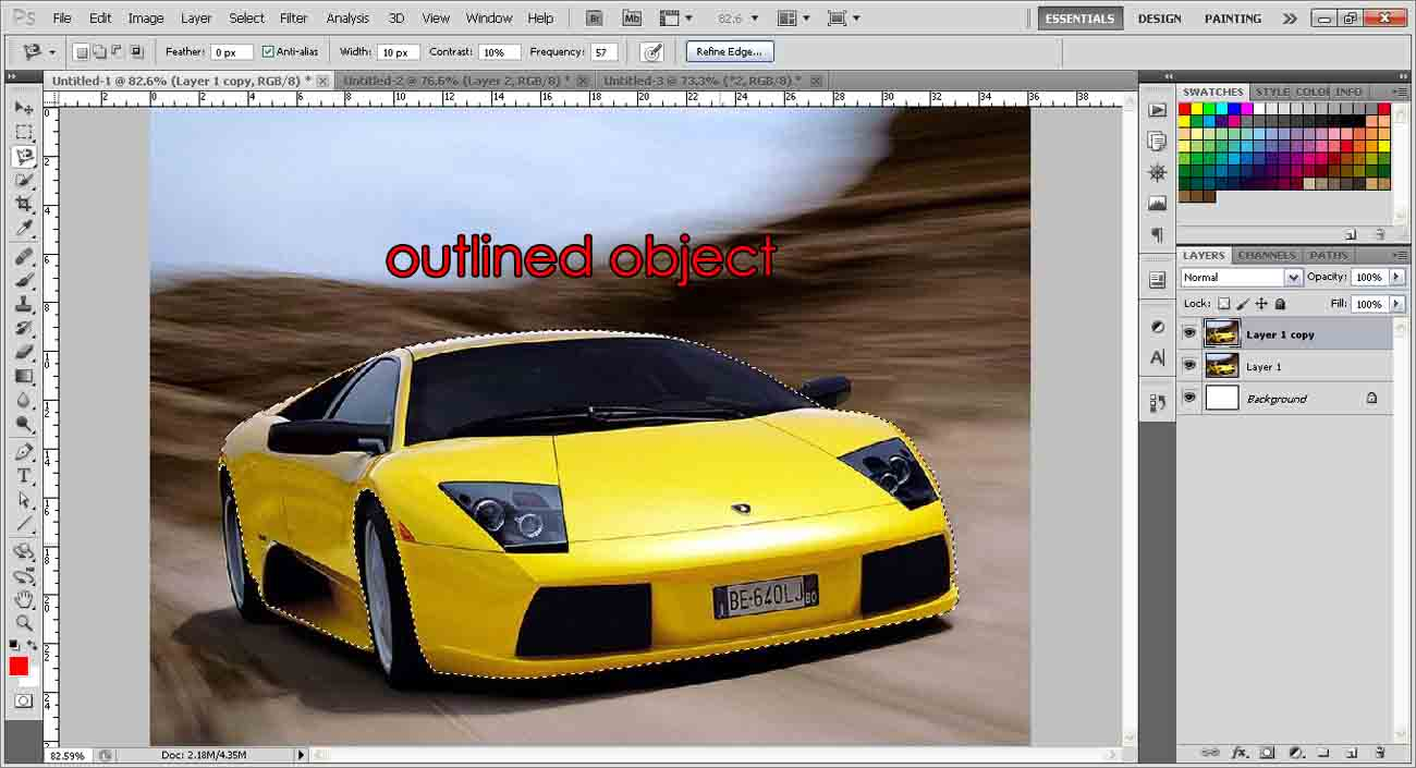 Changing Color Of An Object | photoshop-tutorial org