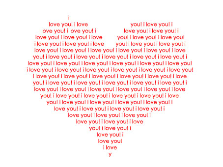 Text Heart