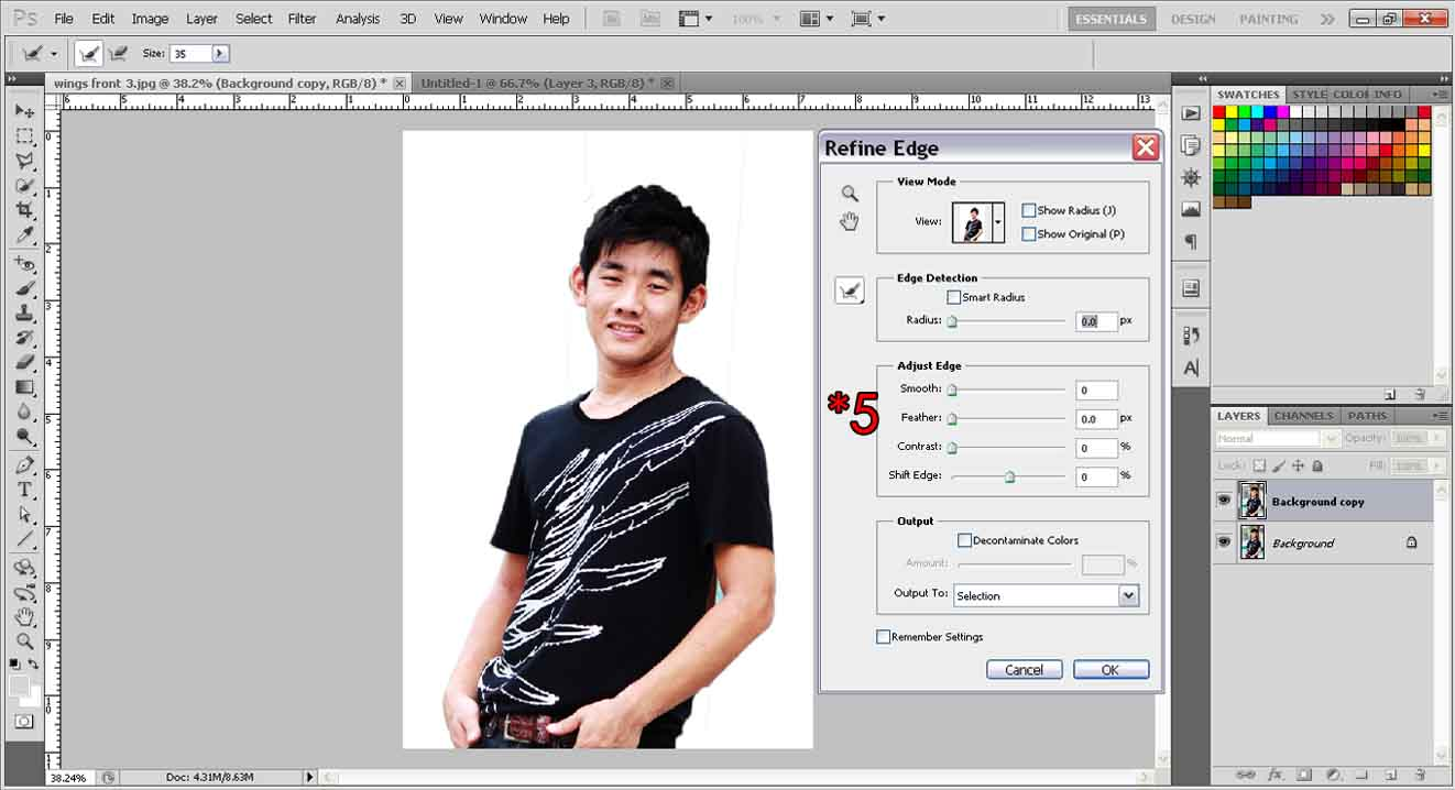 Extract objects with quick selection tool photoshop tutorial refine tool baditri Images