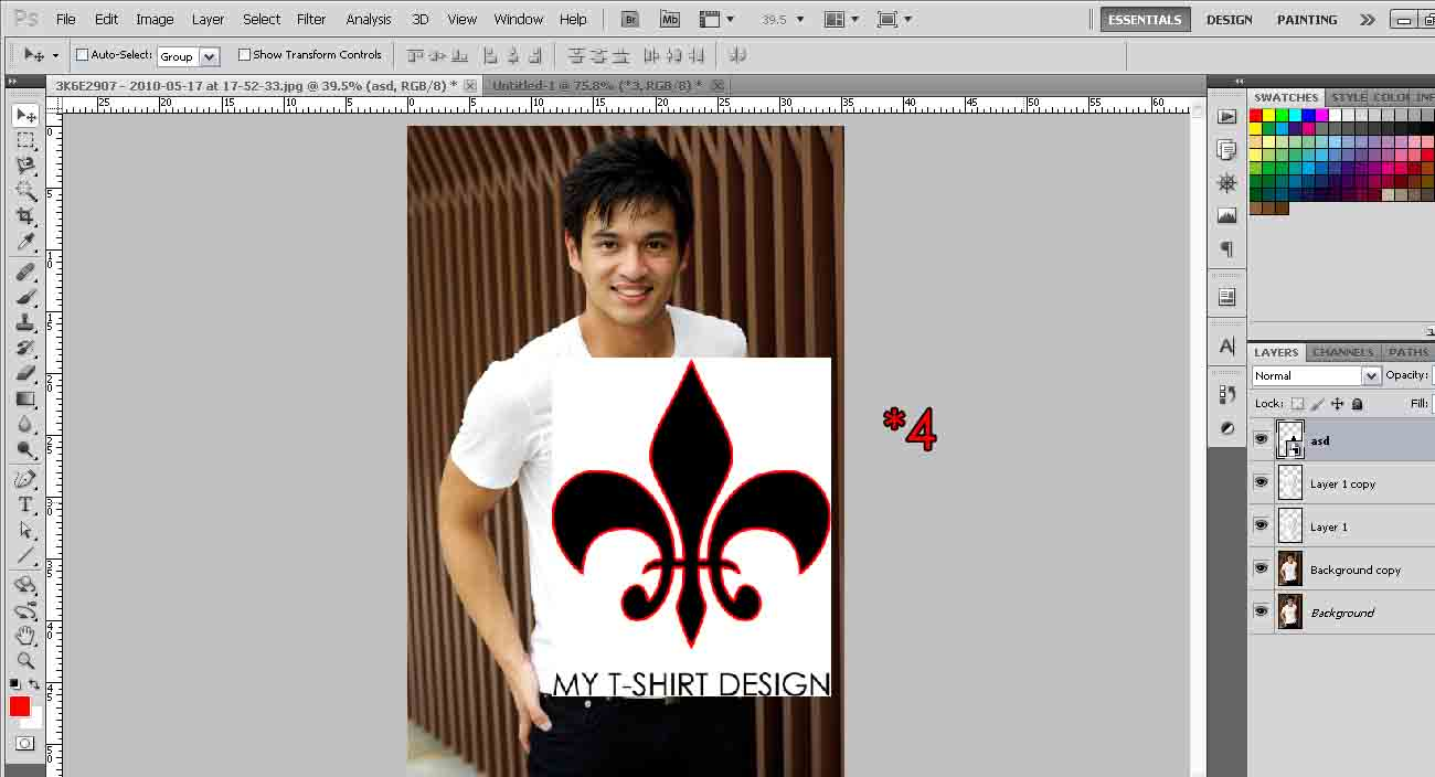 Design a t shirt photoshop tutorial t shirt design over seams baditri Images