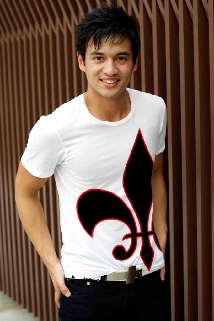 T-shirt design over the seams