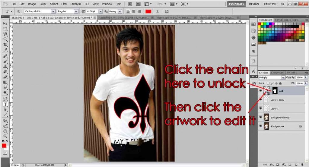 T-shirt unlock