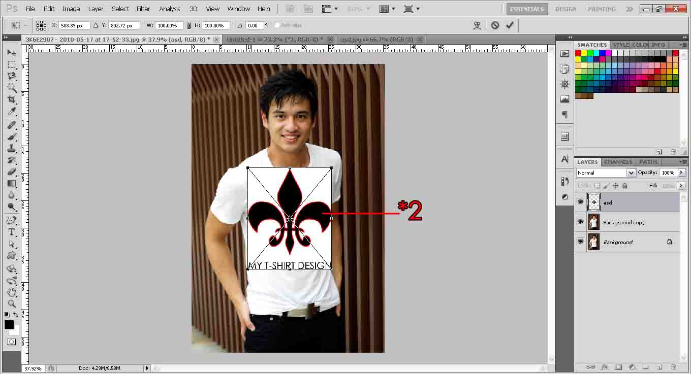 Design a t shirt photoshop How to design shirt