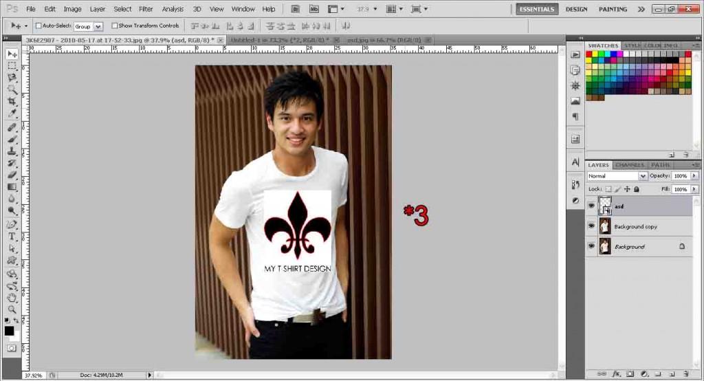 T-shirt design blending
