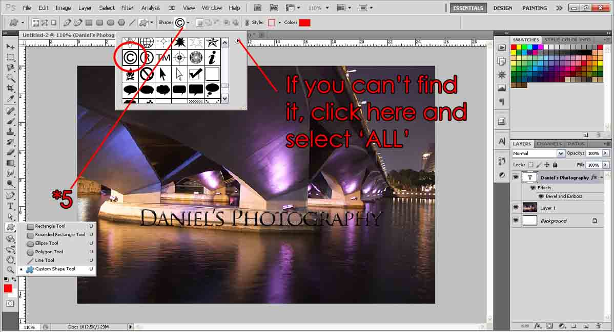 Watermark Your Photos Photoshop Tutorial